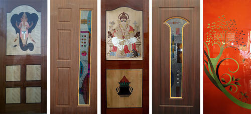 Painted glass plywood doors at rs 5000 piece palani road painted glass plywood doors planetlyrics Choice Image