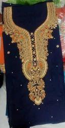 Cotton Embroidered , Plain Ladies Suit Material