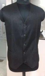 Boys Black School Vest Coat, Size: Medium