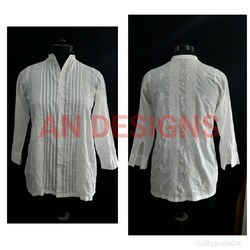 Cotton Ladies Chikankari Shirt
