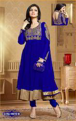 Party Wear Blue Coloue Fancy Designer Anarkali Suit