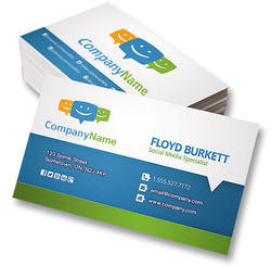 Visiting cards at best price in india digital printed visiting cards reheart Choice Image
