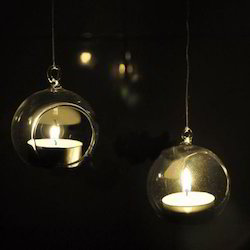 Transparent Glass Hanging Candle Bowl