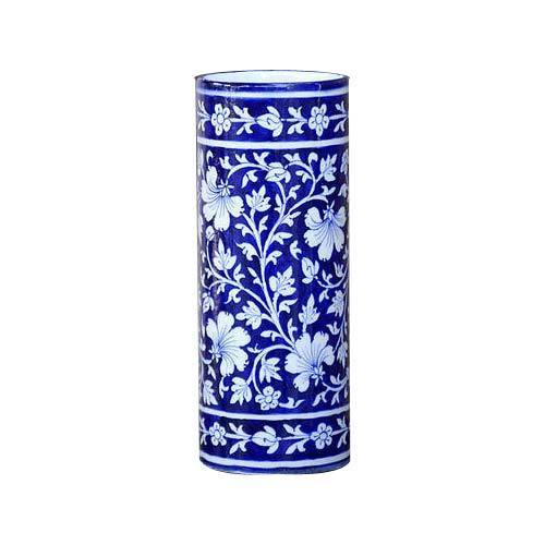 Blue Pottery Cylinder Vase At Rs 500 Piece Pottery Vase Id