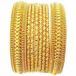 Ladies Gold Bangles