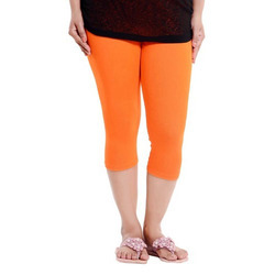 Stretchable 24 to 36 Ladies 3qtr Leggings