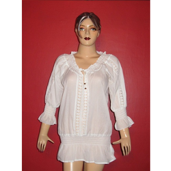 White Cambric Lace Top