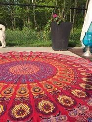 Handmade Indian Mandala Round Tapestry