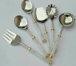 Silver Crystal Cutlery Set