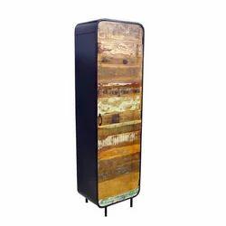 Industrial Reclaimed Wood Iron Vintage Storage Cabinet