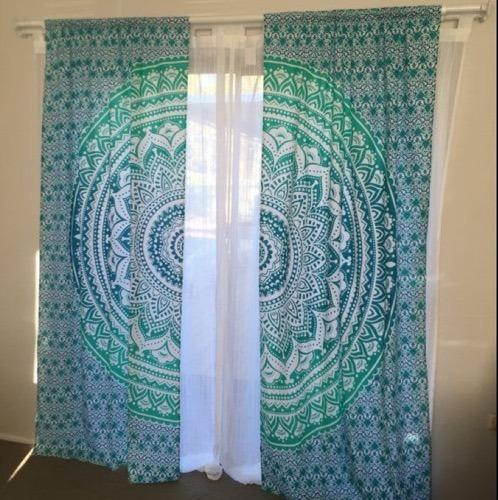 Indian Mandal Hippie Bohemian Decor Mandala Door Curtain