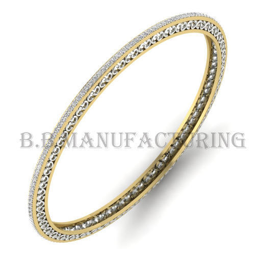 bangle bangles gold bracelet ct womens oval diamond yellow