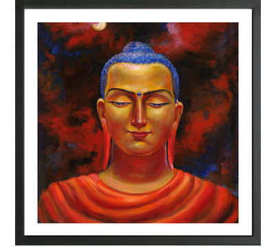 Enlightened Buddha Framed Print at Rs 1500 /piece | Spiritual Buddha ...