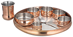 Copper Deluxe Thali Set