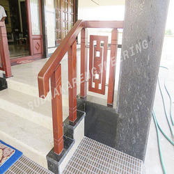 Burma Teak Wood Sitout Handrails