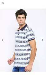 Cotton And Hosiery Printed Men T Shirt