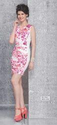 Cotton Round Neck SD-1560 Ladies Printed One Piece Dress