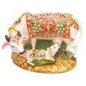 大理石奶牛雕像