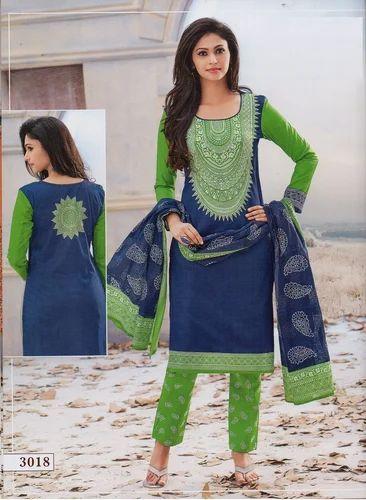 2860c038f4 Jetpur Printed Cotton Casual Dress Materials - SURAJ INTERNATIONAL ...