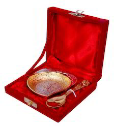 Silver Gold Plated Mango Brass Bowl For Decoration