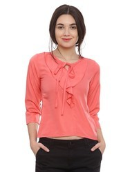 Cotton Casual And Semi-Formal Ladies Tops