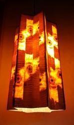 Long Hanging Wooden Star Lamp