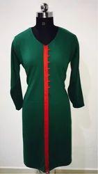 Green Woolen Kurtis