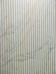 Gloss Alaska Marble Flute Finish Tiles, Slab, 5 mm