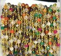Multi Stone Gold Vermeil Gemstone Beaded Chain
