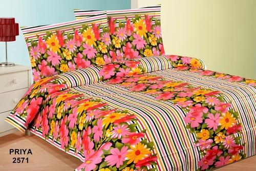 Printed Cotton Double Bed Sheet Fabric