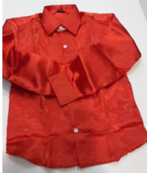 Full Sleeves Red Satin Shirts, Size: Xs,S