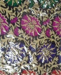 Banarasi Meena Jacquard Fabric Flower Jaal