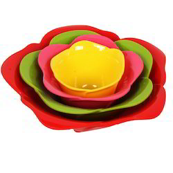 Multicolor High Quality Plastic Nesting Serving Bowl Set