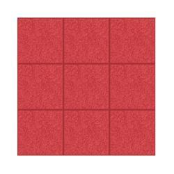 Red Ceramic Glossy Chequered Tile