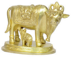 Brass Cow With Calf