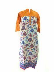 Printed Casual Wear Lavanya Cotton Ladies Designer Long Kurti, Wash Care: Machine wash