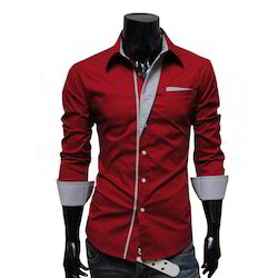 Men's Cotton Plain Full Sleeve Casual Shirts