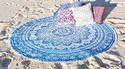 Mandala Beach Throw Round Tapestries