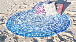 Mandala Beach Throw Round Tapestries