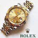 Silver Golden Rolex Watch