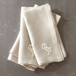 cloth napkins - monogram cloth napkins from bengaluru