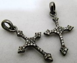 Holy Cross Diamond Charm