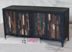 Industrial Wooden Sideboard