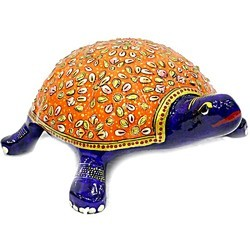 Meenakari Work Tortoise  Mt038