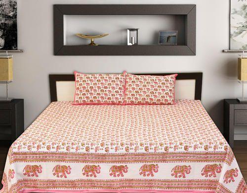 Hand Block Bed Sheet Of 120