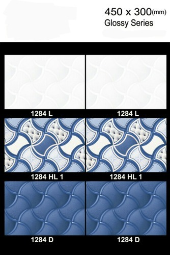 Gloss Ceramic Wall Tiles, Thickness: 6 - 8 mm, Size: Medium
