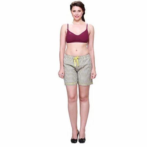 744fc0154b5c1 Ladies Boxer Shorts - Ladies Pink Boxer Shorts Manufacturer from New Delhi