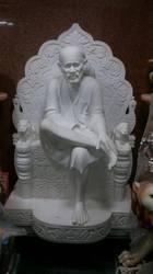 Antique Statue of Sai Baba in Makrana Marble