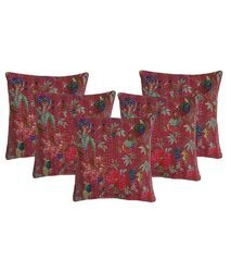 Bird Of Paradise Cotton Cushion Covers