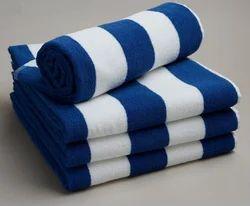 Cotton White Cabana Terry Beach Towels